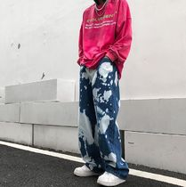 More Jeans Printed Pants Denim Street Style Oversized Jeans 5