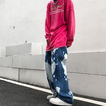 More Jeans Printed Pants Denim Street Style Oversized Jeans 6