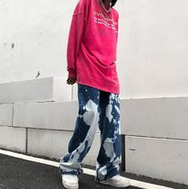 More Jeans Printed Pants Denim Street Style Oversized Jeans 8