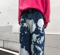 More Jeans Printed Pants Denim Street Style Oversized Jeans 11