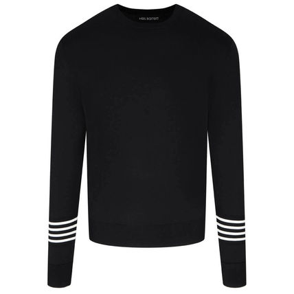Crew Neck Pullovers Long Sleeves Plain Designers Sweaters