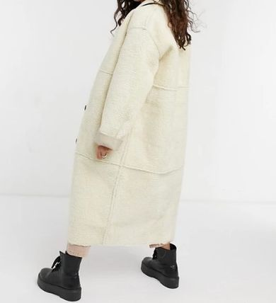 ASOS Casual Style Street Style Plain Long Oversized Shearling