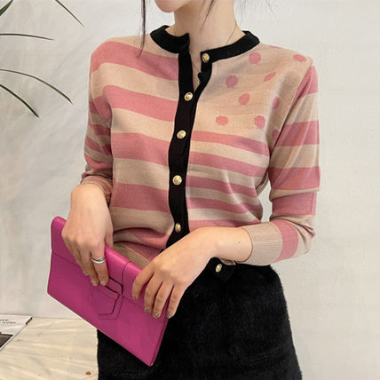 Stripes Dots Casual Style Street Style Long Party Style