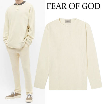 FEAR OF GOD Long Sleeve Crew Neck Street Style Long Sleeves Plain Oversized
