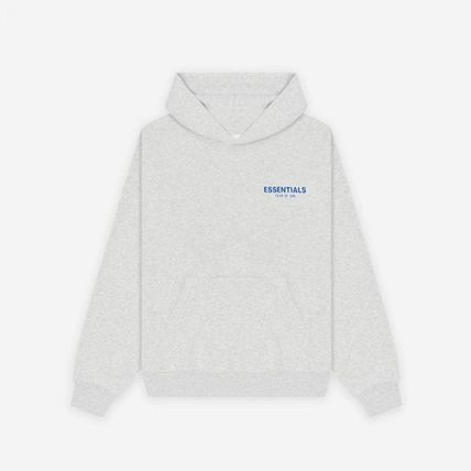 FEAR OF GOD ESSENTIALS Street Style Long Sleeves Plain Logo Hoodies
