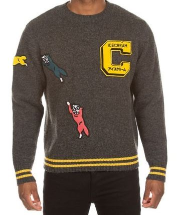 Billionaire Boys Club Sweaters Crew Neck Pullovers Unisex Street Style Long Sleeves Plain