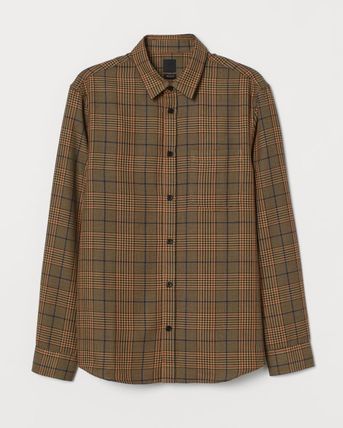 H&M Shirts Button-down Other Plaid Patterns Street Style Long Sleeves