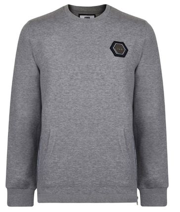 BALR Sweatshirts Crew Neck Street Style Long Sleeves Plain Cotton Logo 3