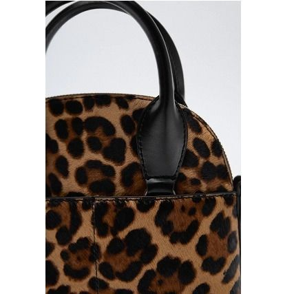 ZARA Leopard Patterns Fur 2WAY Chain Leather Crossbody