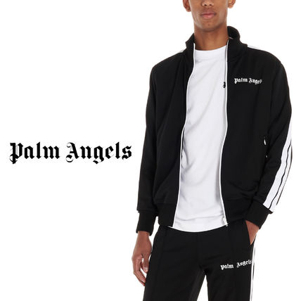 Palm Angels Logo Unisex Plain Street Style Jackets