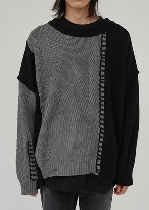 Raucohouse Unisex Street Style Collaboration Long Sleeves Plain