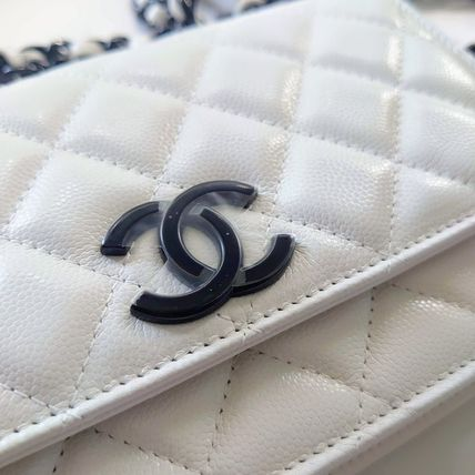 CHANEL Shoulder Bags Casual Style Calfskin 2WAY 3WAY Chain Plain Party Style 3