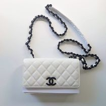 CHANEL Shoulder Bags Casual Style Calfskin 2WAY 3WAY Chain Plain Party Style 4