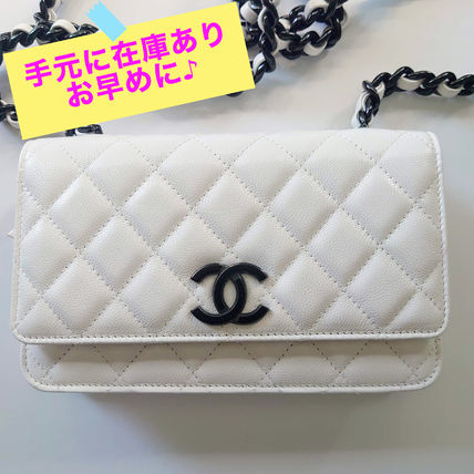 CHANEL Shoulder Bags Casual Style Calfskin 2WAY 3WAY Chain Plain Party Style