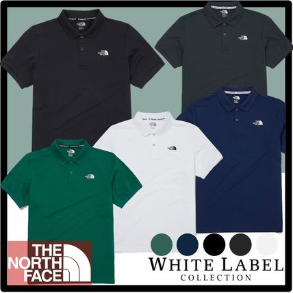 THE NORTH FACE Logo Casual Style Unisex Street Style Polos