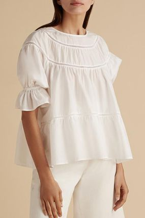 Cotton Puff Sleeves T-Shirts