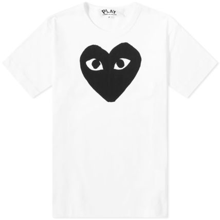 Crew Neck Pullovers Heart Street Style Cotton Short Sleeves