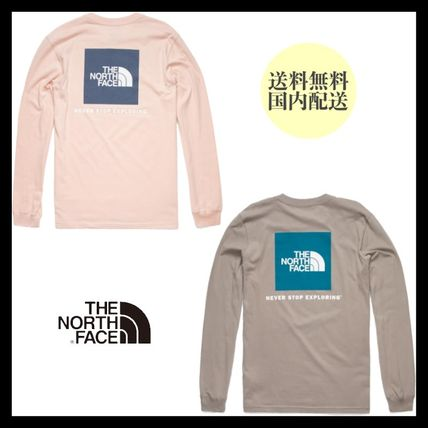 THE NORTH FACE Long Sleeve Unisex Street Style Long Sleeves Cotton Long Sleeve T-shirt