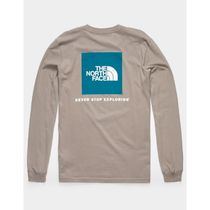 THE NORTH FACE Long Sleeve Unisex Street Style Long Sleeves Cotton Long Sleeve T-shirt 6