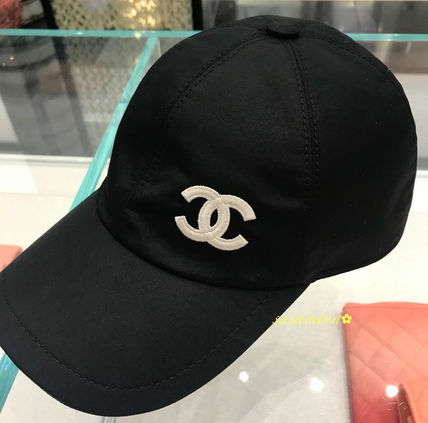 CHANEL Unisex Blended Fabrics Caps