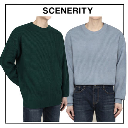 SCENERITY Sweaters Plain Oversized Sweaters