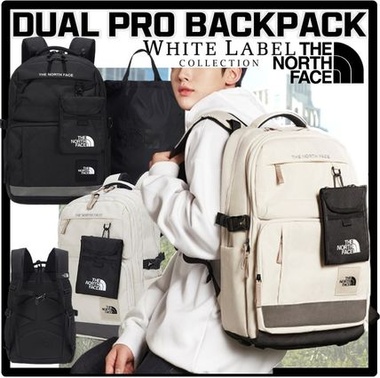 THE NORTH FACE Logo Unisex Street Style Backpacks