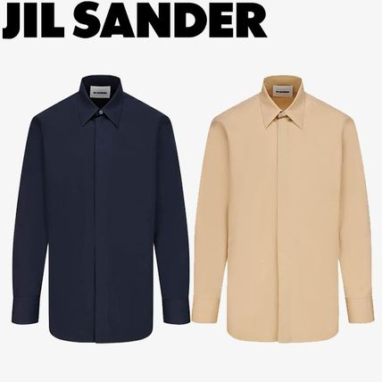Jil Sander Shirts Long Sleeves Plain Cotton Designers Shirts