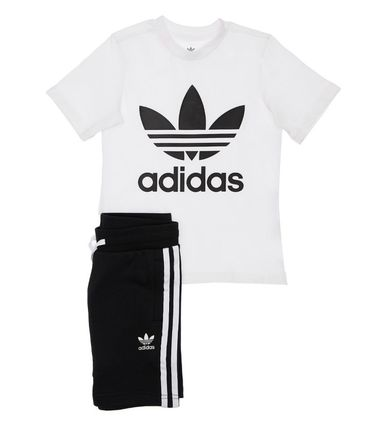 adidas Co-ord Unisex Street Style Baby Girl Tops