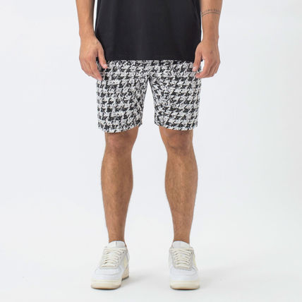 Printed Pants Zigzag Street Style Cotton Shorts