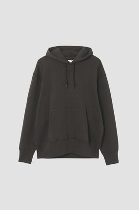 Logo Pullovers Collaboration Long Sleeves Plain Cotton