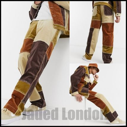 JADED LONDON More Jeans Other Plaid Patterns Corduroy Denim Street Style Cotton