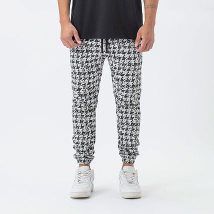 Printed Pants Zigzag Street Style Cotton Patterned Pants
