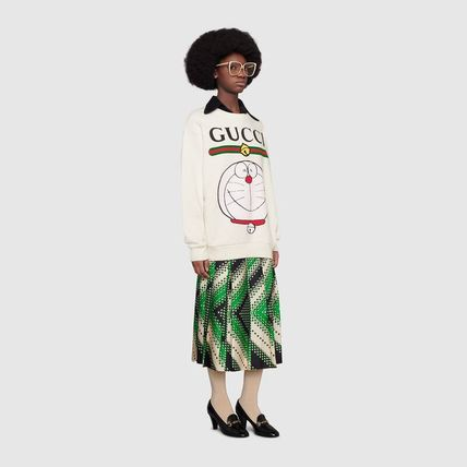 GUCCI Crew Neck Unisex Long Sleeves Other Animal Patterns Cotton