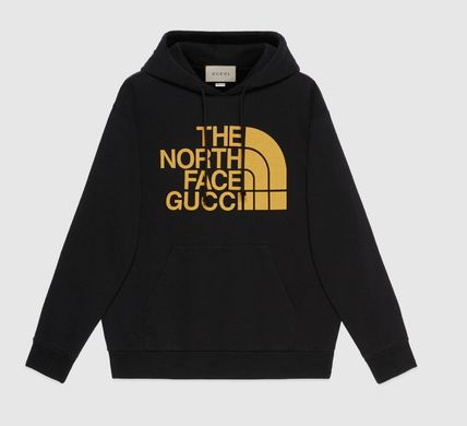 GUCCI Hoodies Unisex Sweat Street Style Collaboration Long Sleeves Logo