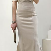 Pencil Skirts Casual Style Plain Long Midi Office Style