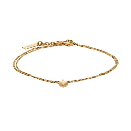 Saint Laurent Costume Jewelry Casual Style Unisex Chain Party Style Brass
