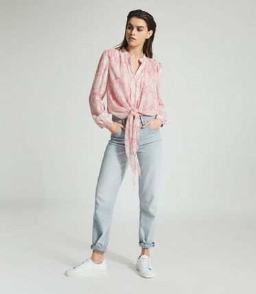 Short Casual Style Long Sleeves Python Cropped