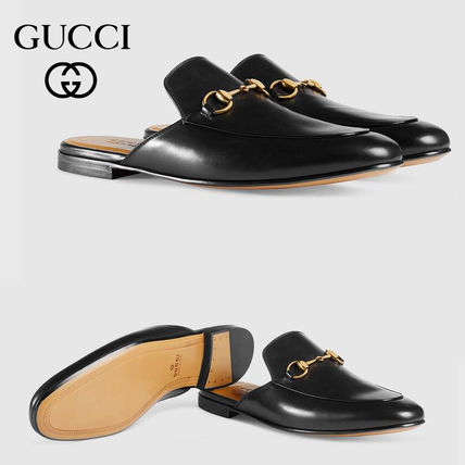 GUCCI Unisex Street Style Leather Logo Shoes