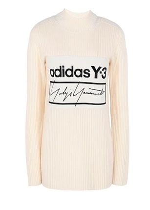 Y-3 Casual Style Long Sleeves Plain High-Neck Office Style Logo