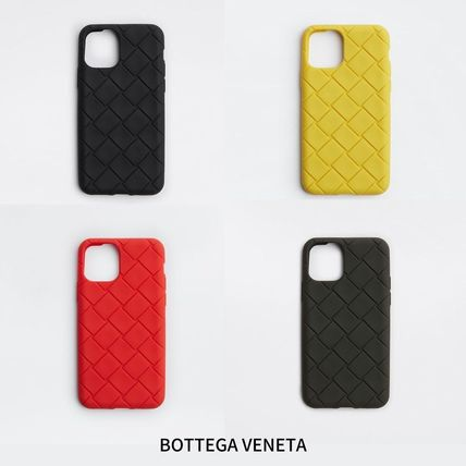 BOTTEGA VENETA Unisex Plain Silicon Logo iPhone 11 Pro Smart Phone Cases