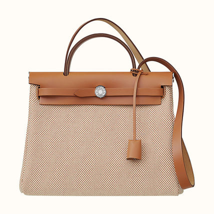 HERMES Casual Style Plain Leather Party Style Office Style
