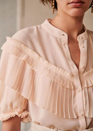 Plain Medium Short Sleeves Shirts & Blouses