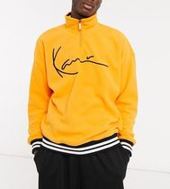 KARL KANI Sweatshirts Pullovers Street Style Bi-color Long Sleeves Logo 4