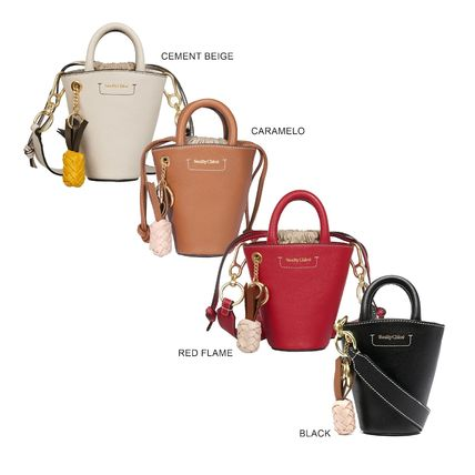 Crossbody Formal Style  Logo Casual Style 2WAY Plain Leather