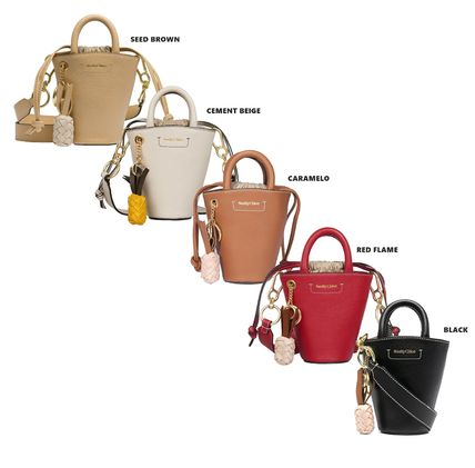 Casual Style 2WAY Plain Leather Party Style Purses