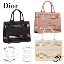 Christian Dior BOOK TOTE Casual Style Street Style Office Style Elegant Style Logo