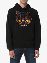 KENZO Hoodies Long Sleeves Plain Cotton Logo Designers Hoodies 4