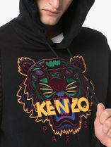 KENZO Hoodies Long Sleeves Plain Cotton Logo Designers Hoodies 6