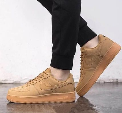 Nike AIR FORCE 1 Unisex Street Style Logo Low-Top Sneakers
