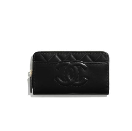 CHANEL Plain Logo Long Wallets
